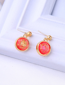 Fashion Red 925 Sterling Silver Stud Earrings