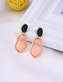 Fashion Navy Drop Oil Irregular Geometric Earrings