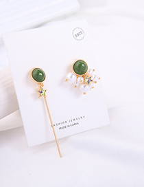 Fashion Asymmetry Asymmetrical Star Pearl Earrings