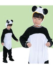Fashion Panda Split Long Cartoon Panda Costume