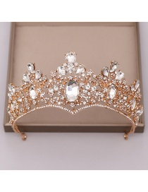 Fashion Golden White Diamond Alloy Diamond Crown