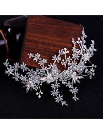 Fashion Silver Braided Crystal Hair Band