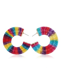 Fashion Color Alloy Woven Earrings