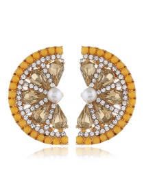 Fashion Yellow Fruit And Diamond Earrings