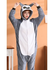 Long Tail Cat Flannel Cartoon One-piece Pajamas