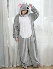 Long-nosed Rat Flannel Cartoon One-piece Pajamas