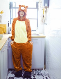 Wild Boar Flannel Cartoon One-piece Pajamas