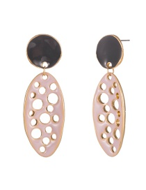 Fashion Pink Painted Horse Eye Earrings