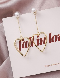 Fashion Gold 925 Silver Needle Stereo Cross Love Pearl Earrings