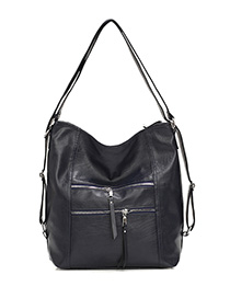 Fashion Sapphire Zipper Shoulder Bag