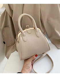 Fashion Creamy-white Jawlet Shoulder Bag
