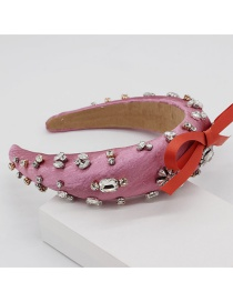 Fashion Pink Diamond Bow Headband