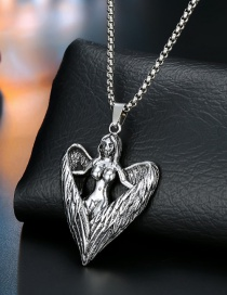 Fashion Angel Silver Silver Dragon Spider Fist Necklace