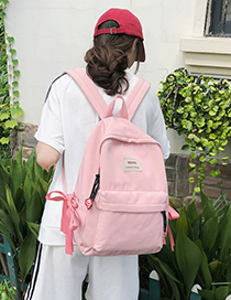 Fashion Pink Scarf Canvas Backpack