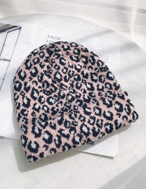 Fashion Leopard Pink Wool Cap