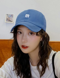 Fashion M Blue M Letter Baseball Cap