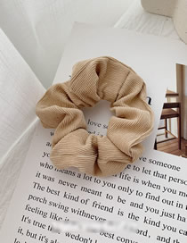 Fashion Khaki Corduroy Fabric Large Intestine Ring Hair Ring