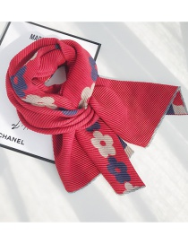 Fashion Double-sided Flower Red Thickened Cashmere Flower Crease Double Shawl