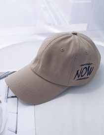 Fashion Now Khaki Printed Letter Baseball Cap