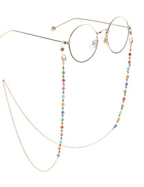 Fashion Gold Crystal Non-slip Glasses Chain