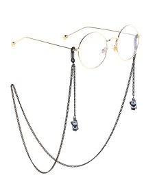 Fashion Black Hanging Neck Bear Chain Glasses Chain