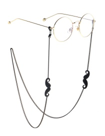 Fashion Black Non-slip Metal Beard Glasses Chain