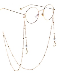 Fashion Gold Pearl Angel Wings Beaded Chain Glasses Chain