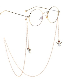 Fashion Gold Non-slip Metal Diamond Angel Glasses Chain