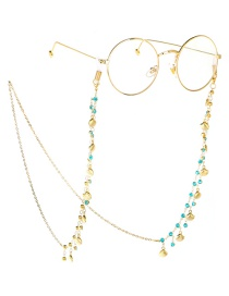 Fashion Gold Chain-studded Shell Glasses Chain