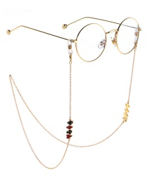 Fashion Gold Non-slip Metal Poker Glasses Chain