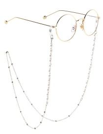 Fashion Silver Pearl Chain Beads Not Faded Glasses Chain
