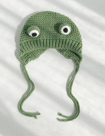 Fashion Frog Green Cartoon Frog Big Eye Wool Cap  Wool