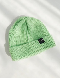 Fashion Mmy Green Cloth Standard Children's Wool Cap