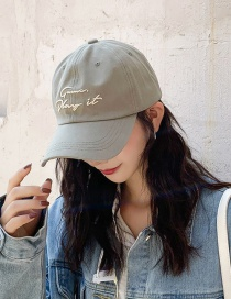 Fashion Play Green Letter Embroidered Baseball Cap