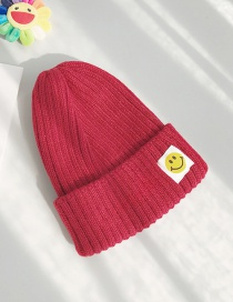 Fashion Sticky Smiley Wine Patch Smiley Wool Cap
