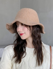 Fashion Two-tone Knit Wool Knit Fisherman Hat