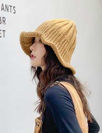 Fashion Thick And Vertical Bar Knitted Wool Foldable Striped Stretch Fisherman Hat