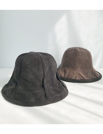 Fashion Corduroy Double-sided Black Corduroy Pit Strips On Both Sides Wearing Fisherman Hats