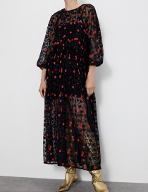 Fashion Color Flower Embroidered Dress