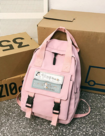 Fashion Pink Magic Label Shoulder Bag