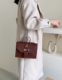 Brown Chain Shoulder Messenger Bag