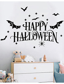 Fashion Multicolor Kst-75 Halloween Bat Spider Wall Stickers