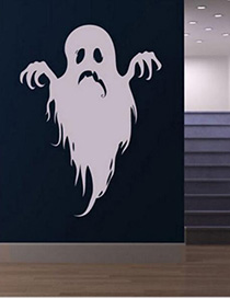 Fashion Light Grey Kst-34 Halloween Ghost Wall Sticker