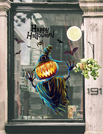 Fashion Multicolor Xl626d Halloween Pumpkin Wall Sticker