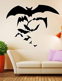Fashion Multicolor Kst-33 Halloween Bat Wall Sticker