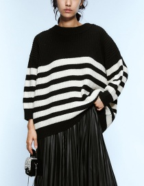 Fashion Black Striped Sweater