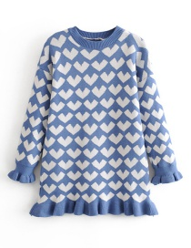 Fashion Blue Love Fishtail Knit Dress