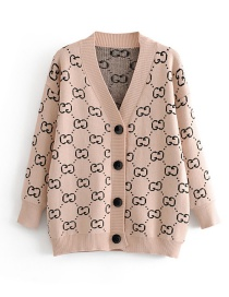 Fashion Khaki Bow Tie Cardigan