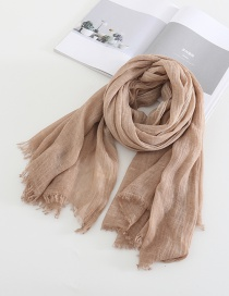 Fashion Pink Distressed Solid Color Scarf Shawl