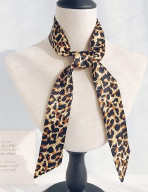 Fashion Fur Leopard Long Narrow Scarf